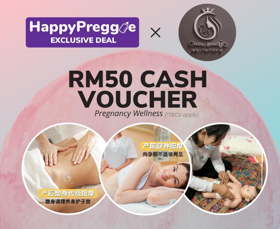 RM50 Cash Voucher for Pregnancy Massage